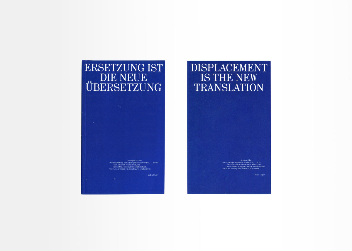 """Jean Boîte Editions — Layout for Kenneth Goldsmith's """"Against Translation"""""""